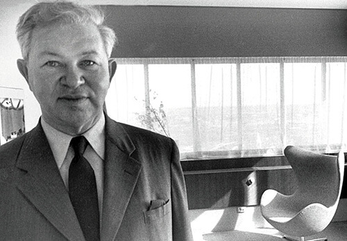 Danish Furniture Designer Arne Jacobsen