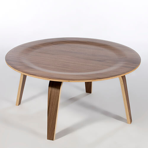Eames Molded Round Plywood Coffee Table